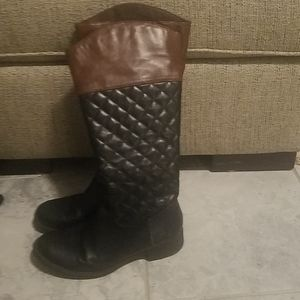 Kohl's black and brown boots